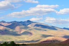 Color soil of mercury deposits in Altai Stock Photo