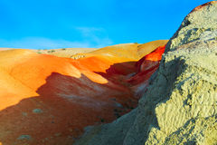 Color soil of mercury deposits in Altai Royalty Free Stock Photos