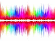 Color sound wave. Stock Photography