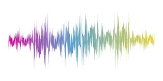 Color sound wave sign. Vector illustration. Color sound wave sign on white background. Vector illustration. Colorful musical bar showing volume Royalty Free Stock Images