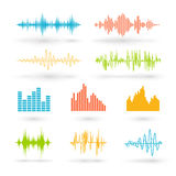 Color sound waves Royalty Free Stock Photos