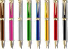 Color souvenir pens Stock Photo