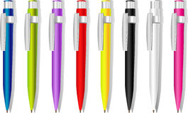 Color souvenir pens stock photography