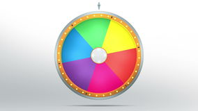 6 Color space of Wheel fortune stock footage