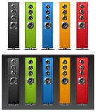Color speakers Stock Photo
