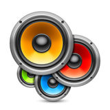 Color speakers. Royalty Free Stock Images