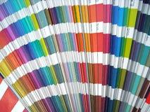 Color spectrum. Paper color sampler guide spectrum. Graphic design Royalty Free Stock Image