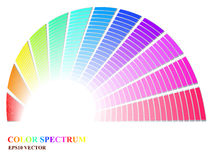 Color Spectrum. Spectrum fan with fading colors royalty free illustration