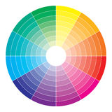 Color spectrum abstract wheel, colorful diagram ba Stock Photos