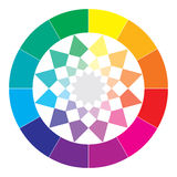 Color spectrum abstract wheel, colorful diagram Stock Image