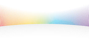 Color spectrum dots. On white background stock illustration