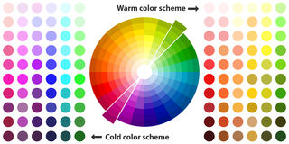 Color spectrum. Flat design, illustration royalty free illustration