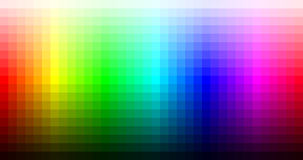 Color spectrum mosaic palette, hue and brightness. Vector. Illustration Royalty Free Stock Image