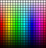 Color spectrum palette, hue and brightness, on black background. Vector Royalty Free Stock Photo