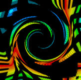 Color Spectrum Swirl. A rainbow twirl of of the color spectrum over black Royalty Free Stock Photo