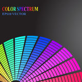 Color spectrum vector Stock Image
