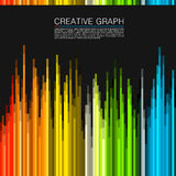 The color spectrum. Vector illustration. The color spectrum art modern. Vector illustration stock illustration