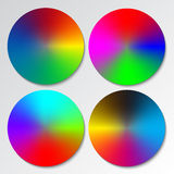 Color spectrum wheels Stock Images
