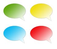 Color Speech Bubble Stock Photography
