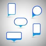 Color speech bubble. Stock Image