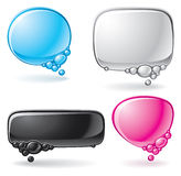 Color speech bubble set Stock Photography