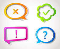 Color speech bubbles Royalty Free Stock Photography