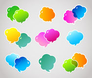 Color speech bubbles Stock Photos