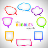 Color Speech Bubbles Stock Photo