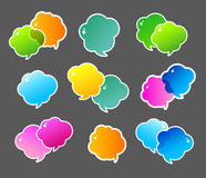 Color speech bubbles Stock Photography