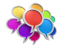 Color speech bubbles (clipping path included) Stock Photography