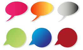 Color Speech Bubbles Stock Image