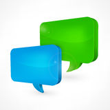Color speech bubbles Royalty Free Stock Photo