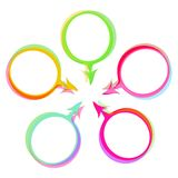 Color speech bubbles vector set Royalty Free Stock Photography