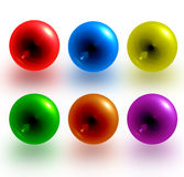 Color sphere. Picture about red, blue, yellow, green, orange, violet balls vector illustration