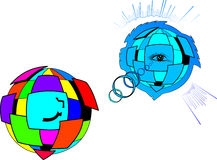 Color sphere. Abstraction. Stock Images