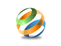 Color sphere, 3d Vector image Royalty Free Stock Photography