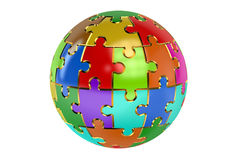 Color sphere puzzle Royalty Free Stock Photos