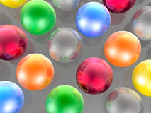 Color spheres Stock Photography