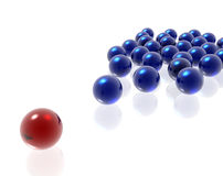 Color spheres Stock Images