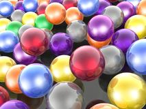 Color spheres. As abstract background, 3D illustration Stock Photos