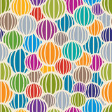 Color spheres seamless pattern. Royalty Free Stock Image
