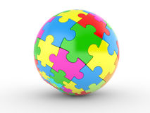 Color spherical puzzle Stock Photos