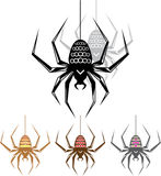 Color Spider Vector Art Royalty Free Stock Images
