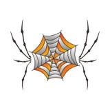 Color spiderweb art Stock Photos