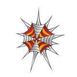 Color spiderweb art Stock Image