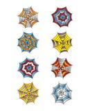 Color spiderweb art Royalty Free Stock Photo