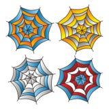 Color spiderweb art Royalty Free Stock Photos