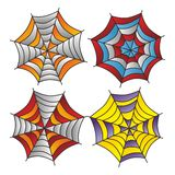 Color spiderweb art Royalty Free Stock Photography