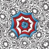 Color spiderweb art Stock Photography