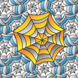 Color spiderweb art Stock Photography